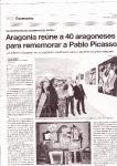 El periódico de Aragón con la noticia