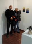 Francisco y Fernando con las obras de Francisco