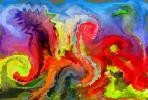 Colores de leon, obra presentada por Francisco.