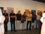 Varios de los artistas participantes.