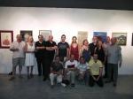Grupo de artistas participantes.