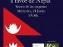 VENTA BENEFICA A FAVOR DE NEPAL