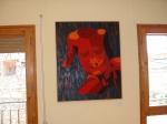 """Obra de Francisco """"Roja calidez""""."""