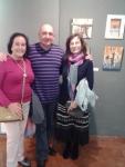 Mª Jose, Francisco y Montse junto a sus obras.